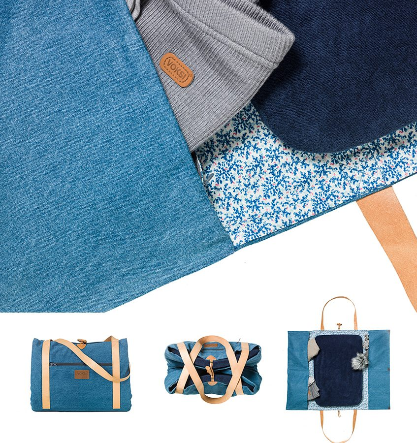 Voksi Ida Ising changing bag Denim Limited Edition