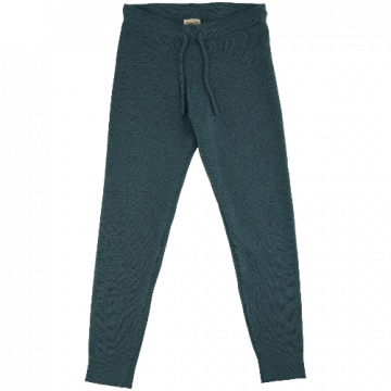 voksi wool double knit pants sea green
