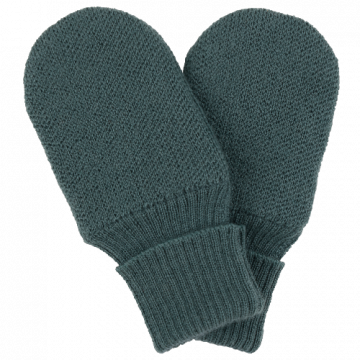 voksi wool double knit mittens sea green