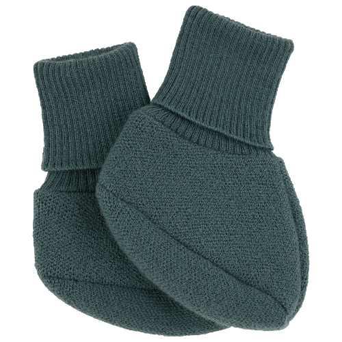voksi wool double knit booties sea green