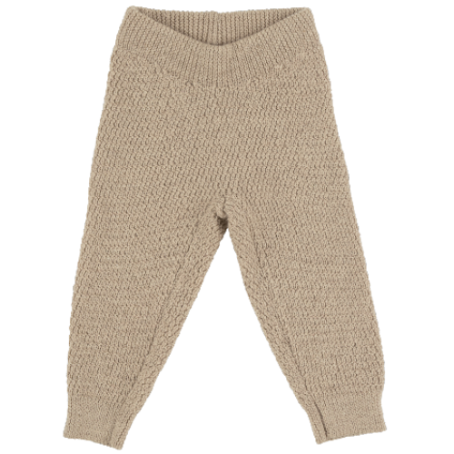 voksi wool honeycomb pants melange sand