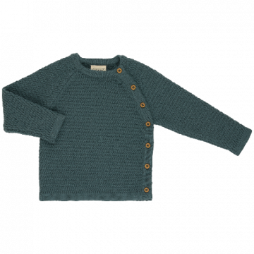 voksi wool honeycomb sweater sea green
